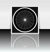 Bicycle wheel icon symbol — Stock Photo