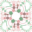 Abstract flower seamless pattern background — Stock Photo