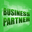 Stock Photo: Business concept: words Business partner on digital screen
