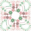 Elegance seamless flowers pattern on abstract background. Floral illustration — Stock Photo #19701253