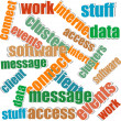 Collage of different words on a white background on business topics — Foto de Stock