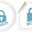 Padlock sticker icon set. ultimate security concept — Stock Photo