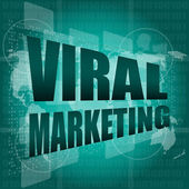 Marketing concept: words Viral Marketing on digital screen — Stock Photo