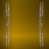 黄金金属图案上纸背景,复刻版系列 — 图库照片