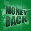 Words money back on digital screen, business concept — Stock Photo #19836101