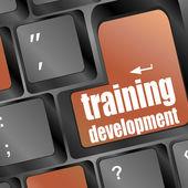 Wording training development on computer keyboard — Stock Photo