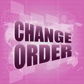 Pixeled slova změnit pořadí na digitální dotykový displej — Stock fotografie