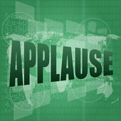 Applause word poster concept. Financial support message design — Stock Photo