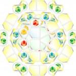 White, yellow, red gift box seamless pattern — Stock Photo #20088225