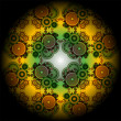 Vivid mandala wheel, digital fractal artwork, abstract illustration — Stock Photo #20087599