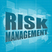 Management concept: words Risk management on digital screen — Stock Photo