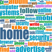 Business background - protection in word collage — Stock Photo