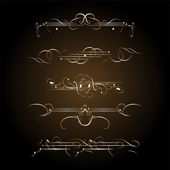 Ornate set vintage elements — Stock Photo
