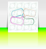 Abstract pastel color frames design background for your text — Stock Photo