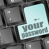 Your password button on keyboard - security concept — Stock Photo
