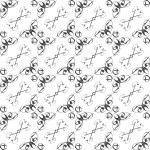 Vintage star shaped tiles seamless pattern, monochrome background — Stock Photo #20107973