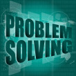 Business concept: words problem solving on digital screen — Stock Photo