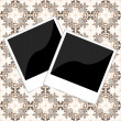 Pair of polaroid photo frame on vintage background — Stock Photo