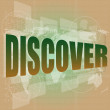 Stock Photo: Social concept: word discover on digital background