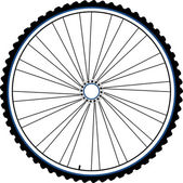 Bike wheel black silhouette — Stock Photo