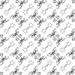 Vintage star shaped tiles seamless pattern, monochrome - Stock Photo