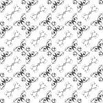 Vintage star shaped tiles seamless pattern, monochrome — Stock Photo #20564823