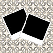 Blank photo frame set polaroid on vintage background — Stock Photo #20792417