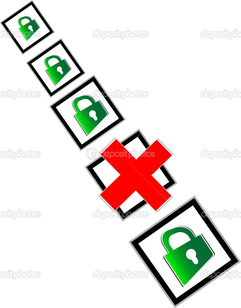 Check box with red and green check mark — Stock Photo #20794635
