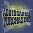 Backgrounds touch screen with adversarial purchasing words - ストック写真