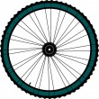 Bike wheel - vector illustration on white background — Stock Photo