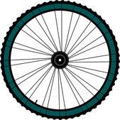 Fiets wiel - vectorillustratie op witte achtergrond — Stockfoto