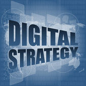 Digital strategy word on digital touch screen — Stock Photo