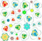 Happy birthday seamless background pattern. Illustration — Stock Photo