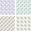 Seamless wallpaper pattern, set of four colors - Stock Photo