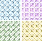 Seamless patterns set — Stock Photo