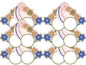 элегантный бесшовный паттерн с абстрактными цветами в мягких тонах — Стоковое фото