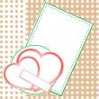 Valentine Day card with two love hearts — Stockfoto