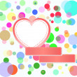Stock Photo: Romantic love hearts decoration multicolored bubbles