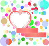 Romantic love hearts decoration multicolored bubbles — Stock Photo