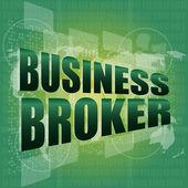 デジタル タッチ画面上のビジネス ブローカー単語 — ストック写真