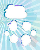 Cloud and blue rays - abstract background — Stock Photo