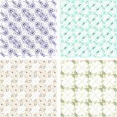 Seamless wallpaper pattern set — Stock Photo