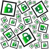 Locks seamless pattern - security concept — Stock Photo