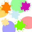 Set of colored blots — Stock Photo