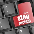 Stop racism concept by keyboard keys — Stock Photo