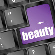 Royalty-Free Stock Photo: Enter button with beauty word on it
