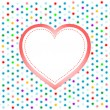 Pair of valentine heart on abstract background — Foto Stock