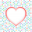 Pair of valentine heart on abstract background — Stockfoto