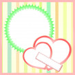 Stock Photo: Two paper hearts background, saint valentines