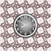 Abstract background pattern with modern wall clock — Stock Photo